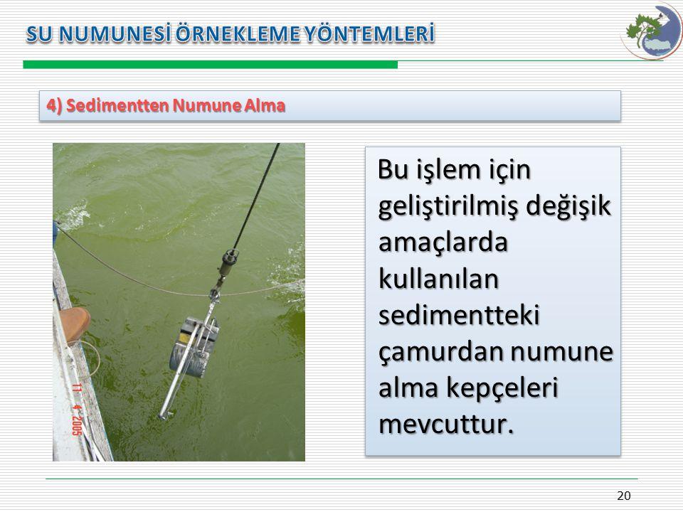 4) Sedimentten Numune Alma 20