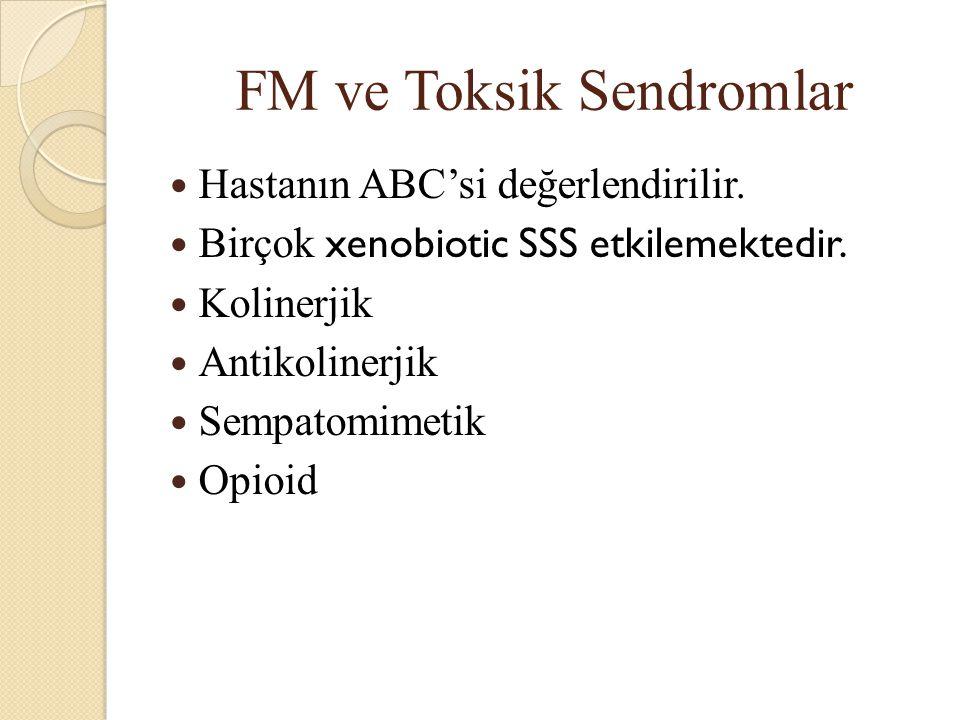FM ve Toksik Sendromlar Hastanın ABC'si değerlendirilir.