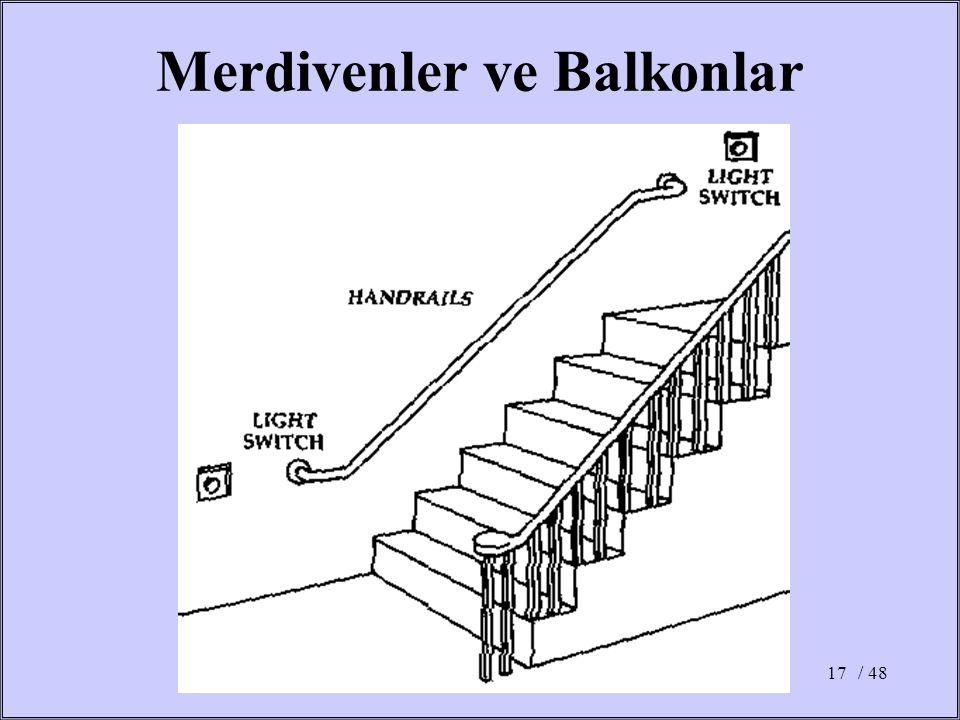 / 4817 Merdivenler ve Balkonlar