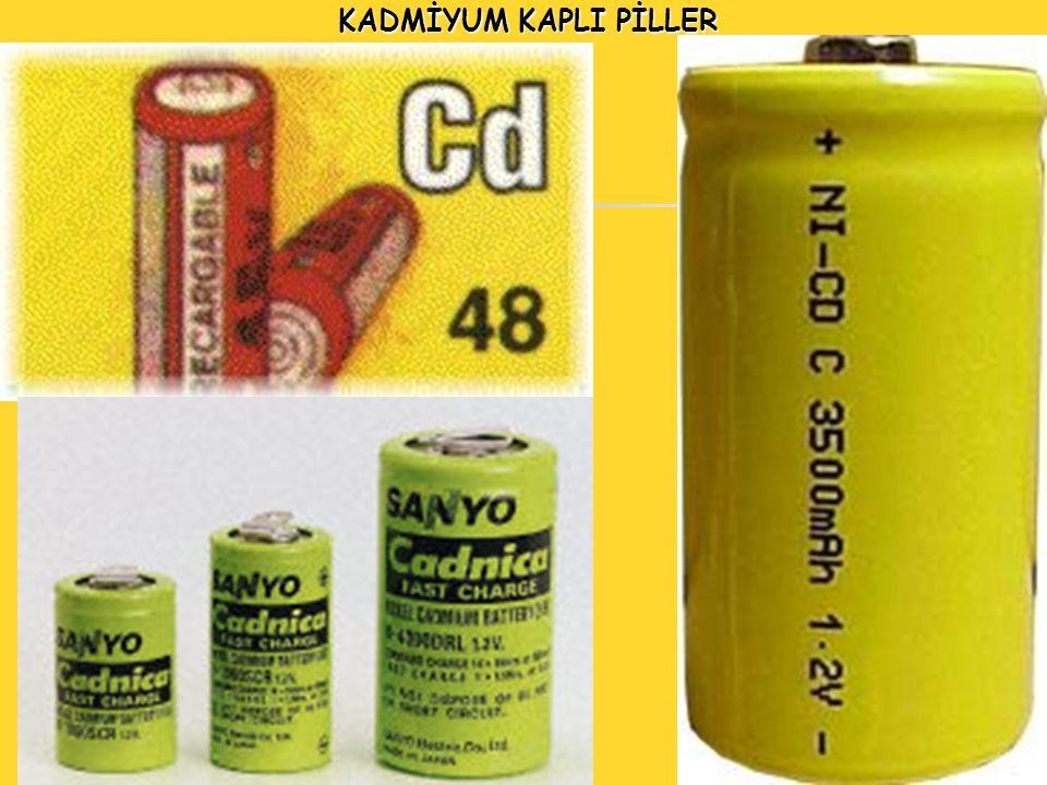 3 Kadmiyum kaplamalar çinko kaplamalara oranla çok daha az miktarda üretilmelerine karşın anodik kaplamalar olarak çinko kaplamalarla birlikte alınırlar.