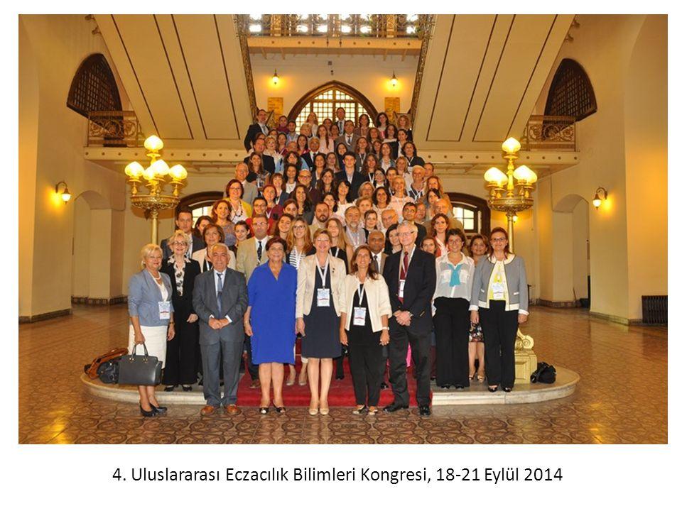 4. Uluslararası Eczacılık Bilimleri Kongresi, 18-21 Eylül 2014
