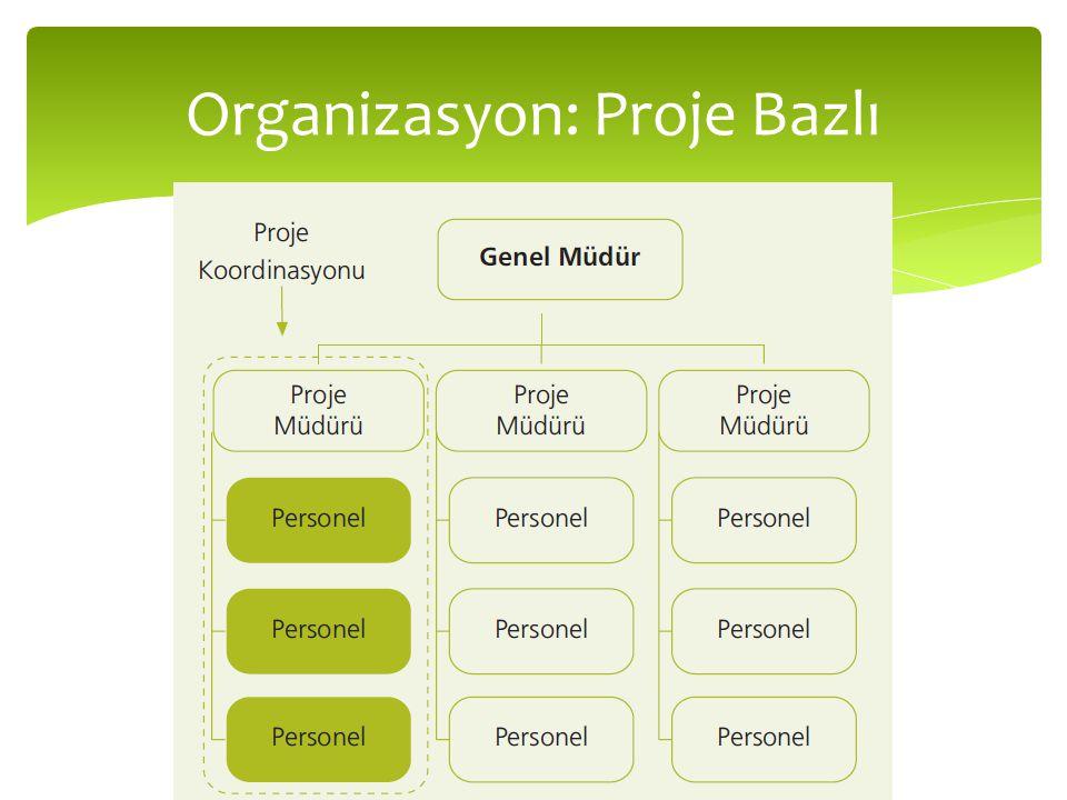 Organizasyon: Proje Bazlı