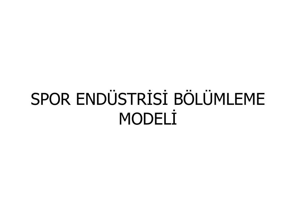 SPOR ENDÜSTRİSİ BÖLÜMLEME MODELİ