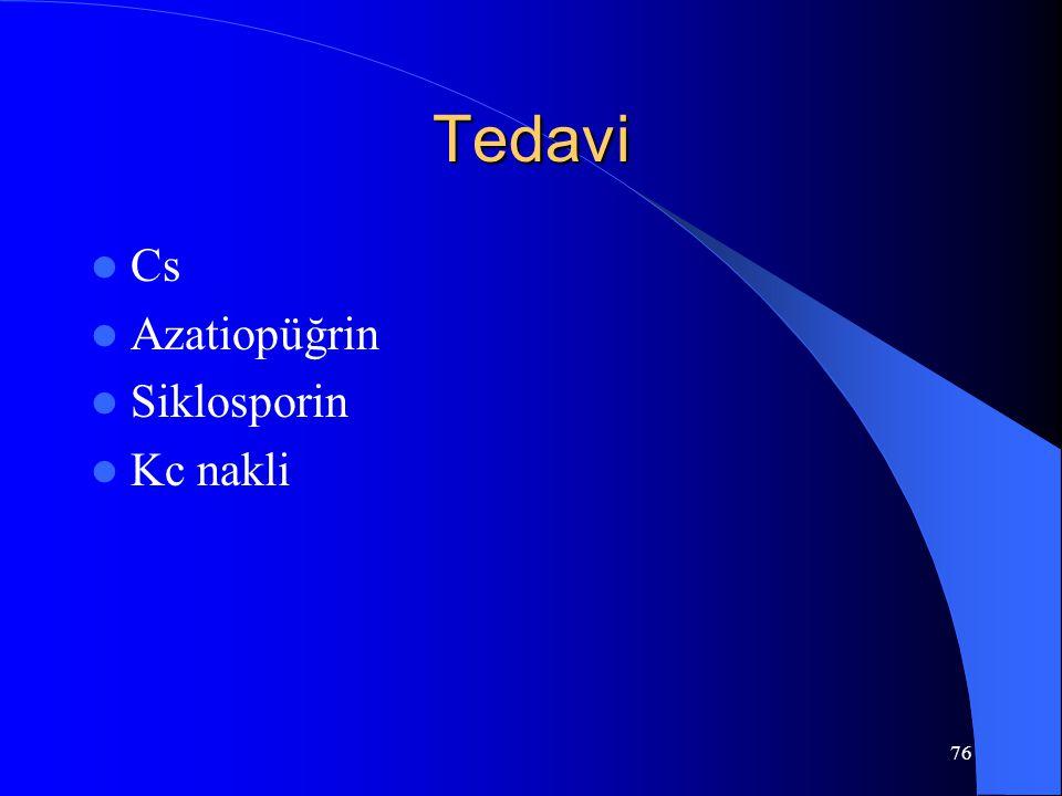 76 Tedavi Cs Azatiopüğrin Siklosporin Kc nakli