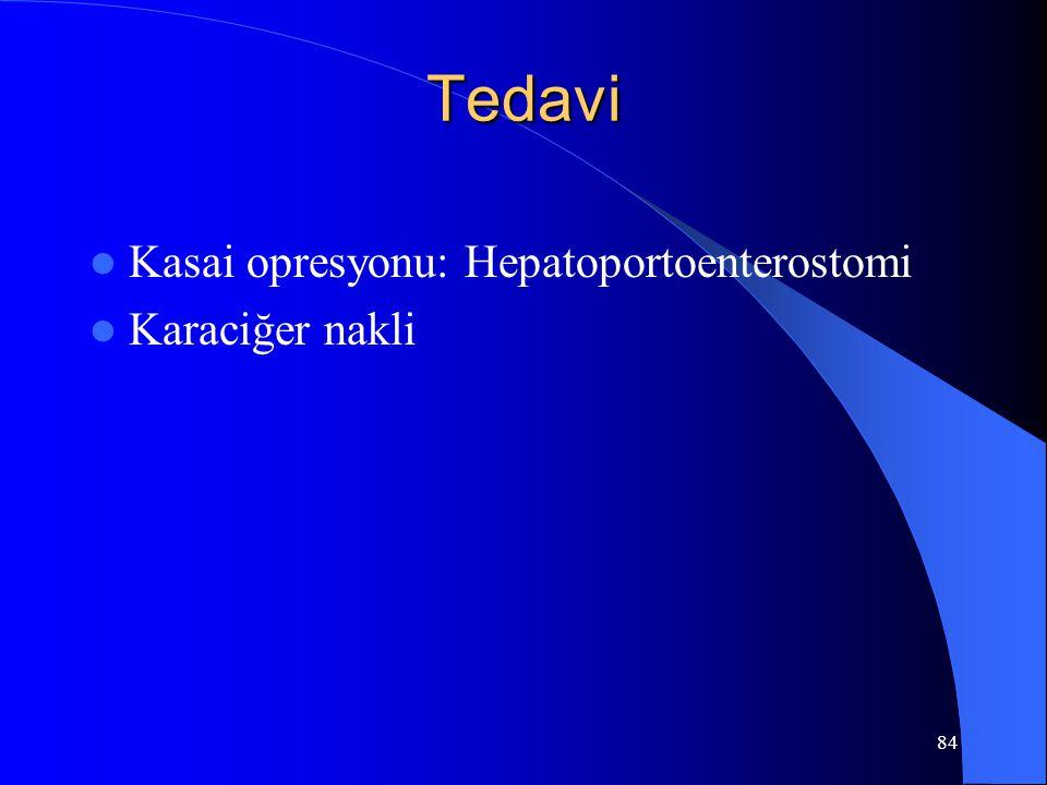 84 Tedavi Kasai opresyonu: Hepatoportoenterostomi Karaciğer nakli