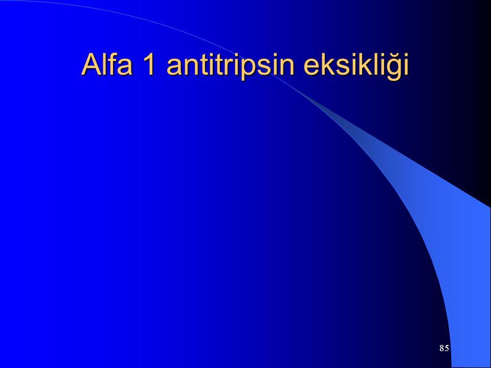 85 Alfa 1 antitripsin eksikliği