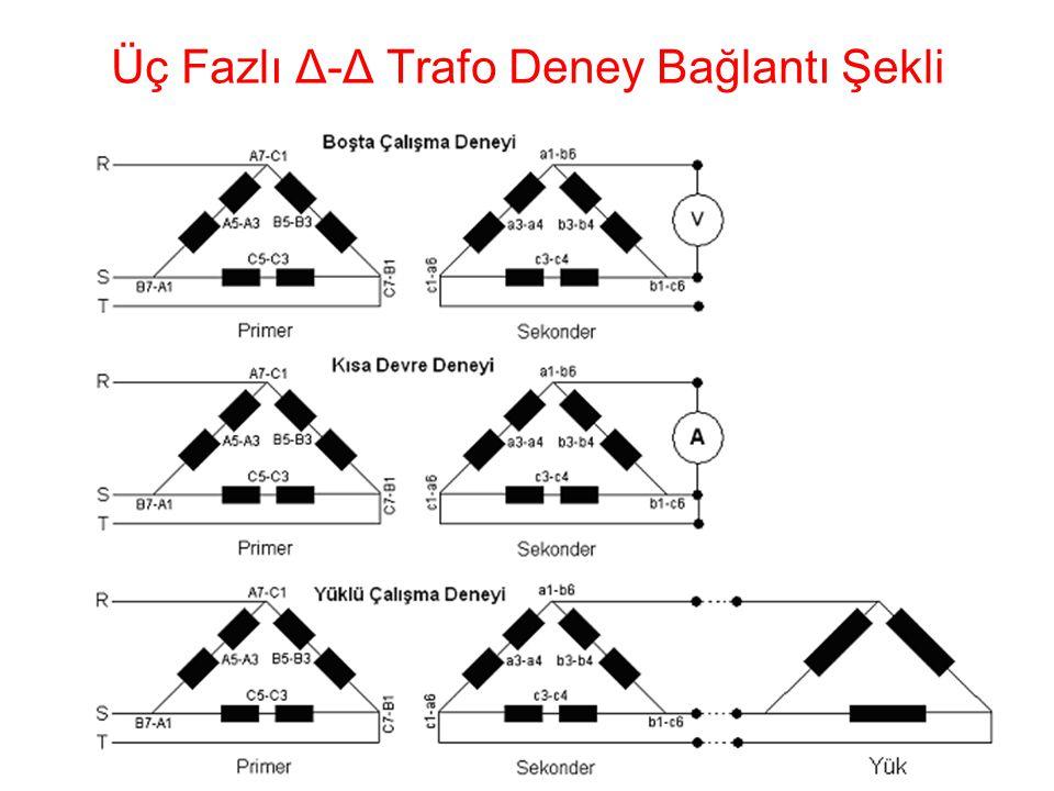 19 Üç Fazlı Δ-Δ Trafo Deney Bağlantı Şekli