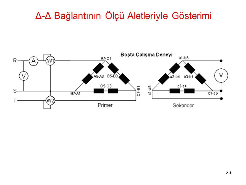23 Δ-Δ Bağlantının Ölçü Aletleriyle Gösterimi