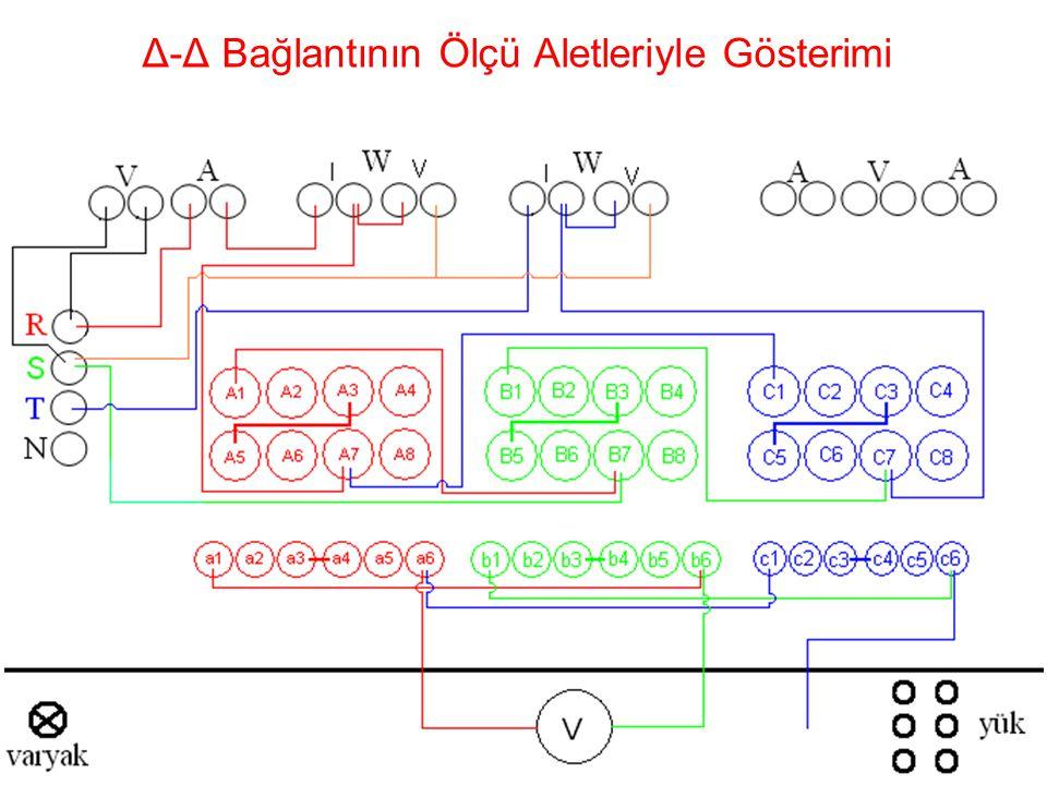 24 Δ-Δ Bağlantının Ölçü Aletleriyle Gösterimi