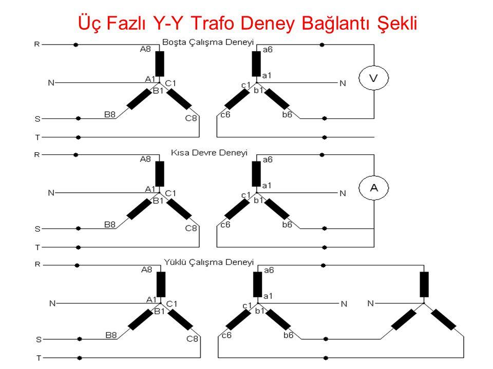 25 Üç Fazlı Y-Y Trafo Deney Bağlantı Şekli