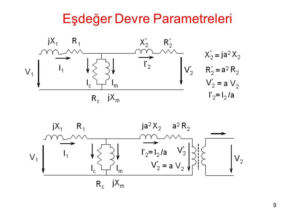 20 Boşta Çalışma Deneyi Bağlantı Şeması (Δ-Δ)