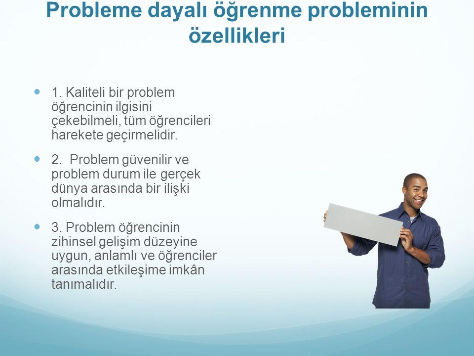 Probleme dayalı öğrenme probleminin özellikleri 1.