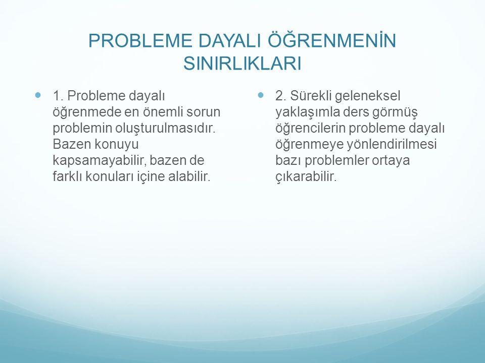 PROBLEME DAYALI ÖĞRENMENİN SINIRLIKLARI 1.