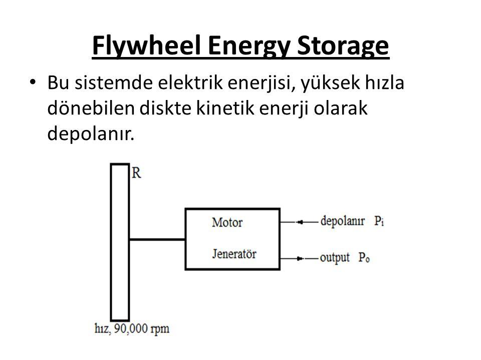 Flywheel Energy Storage Bu sistemde elektrik enerjisi, yüksek hızla dönebilen diskte kinetik enerji olarak depolanır.