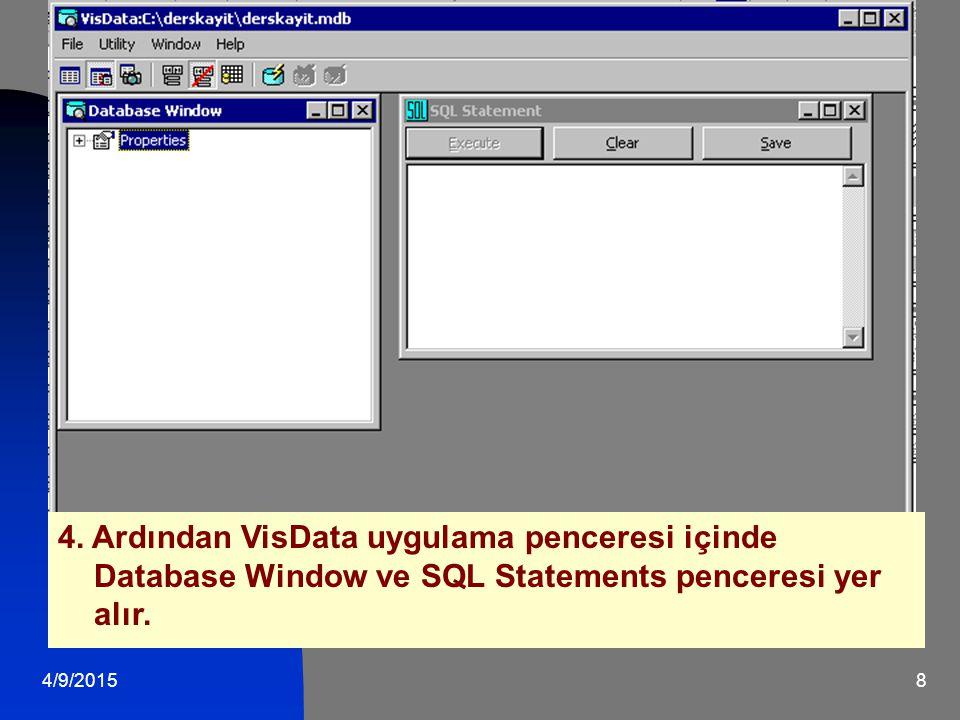 4/9/201519 Data Control, bir veritabanında bulunan verilere erişmeyi sağlar.