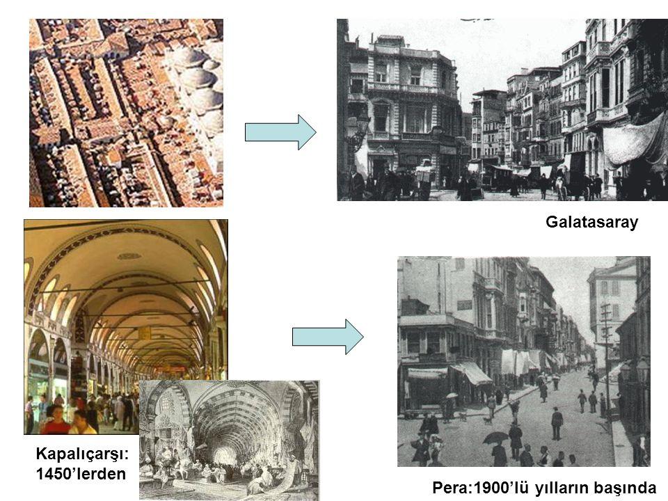 Kapalıçarşı: 1450'lerden Pera:1900'lü yılların başında Galatasaray