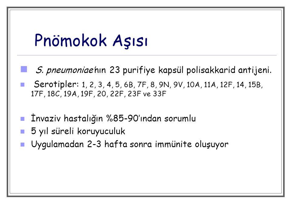 Pnömokok Aşısı > 64 yaş ( >50 yaş.