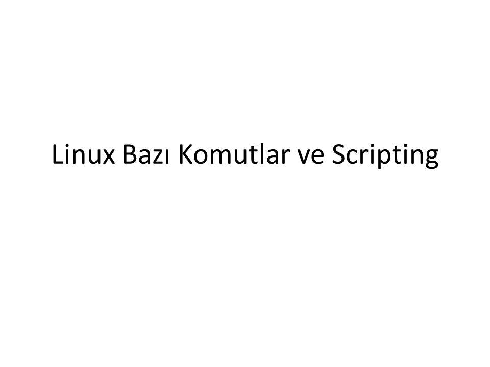 Linux Bazı Komutlar ve Scripting