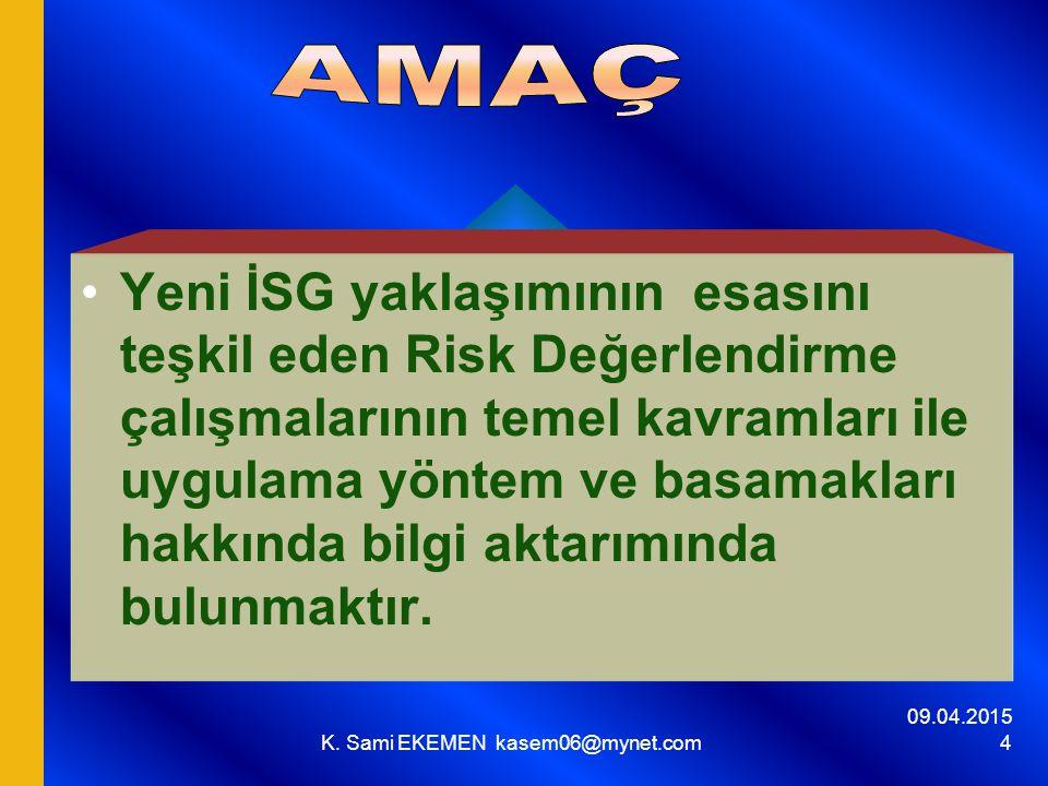 09.04.2015 K. Sami EKEMEN kasem06@mynet.com 65 II. I.