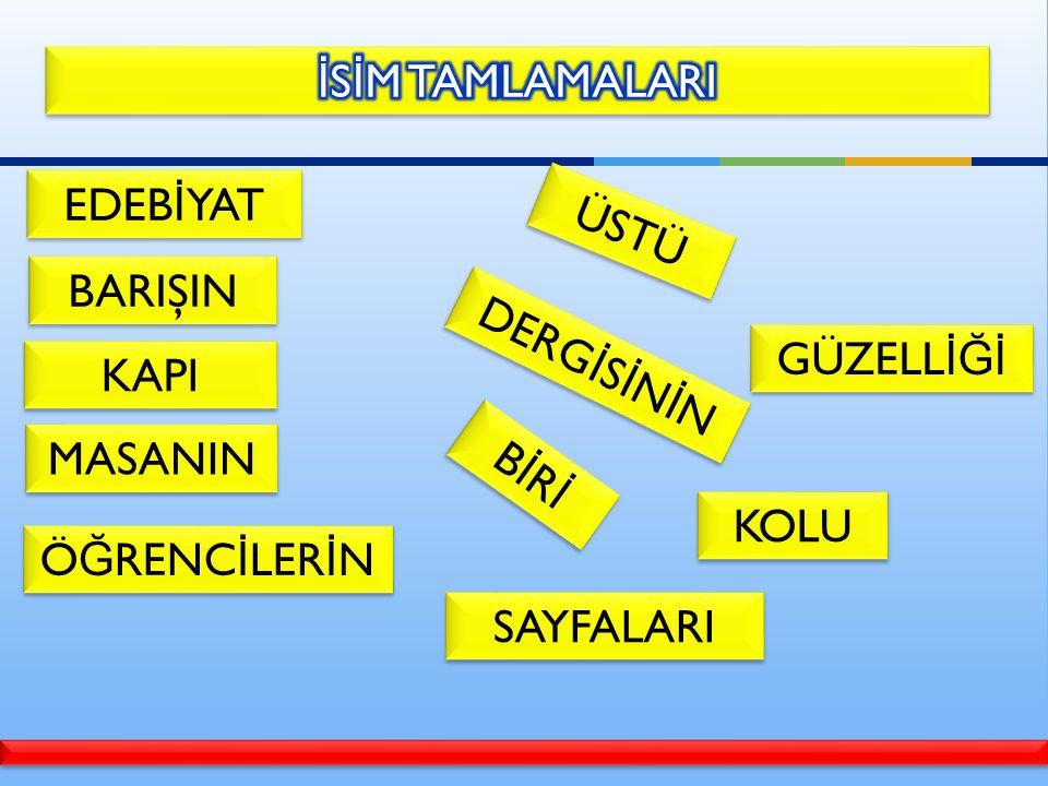 En az 3 isimden oluşan tamlamalardır.Tamlayan ve tamlanan olmak üzere 2 kısımdan oluşur.