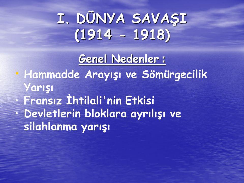 2.Osmanlı Ordusu terhis edilecek. 3.