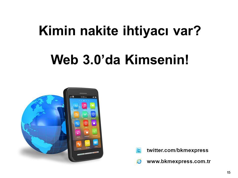 15 twitter.com/bkmexpress www.bkmexpress.com.tr Kimin nakite ihtiyacı var? Web 3.0'da Kimsenin!