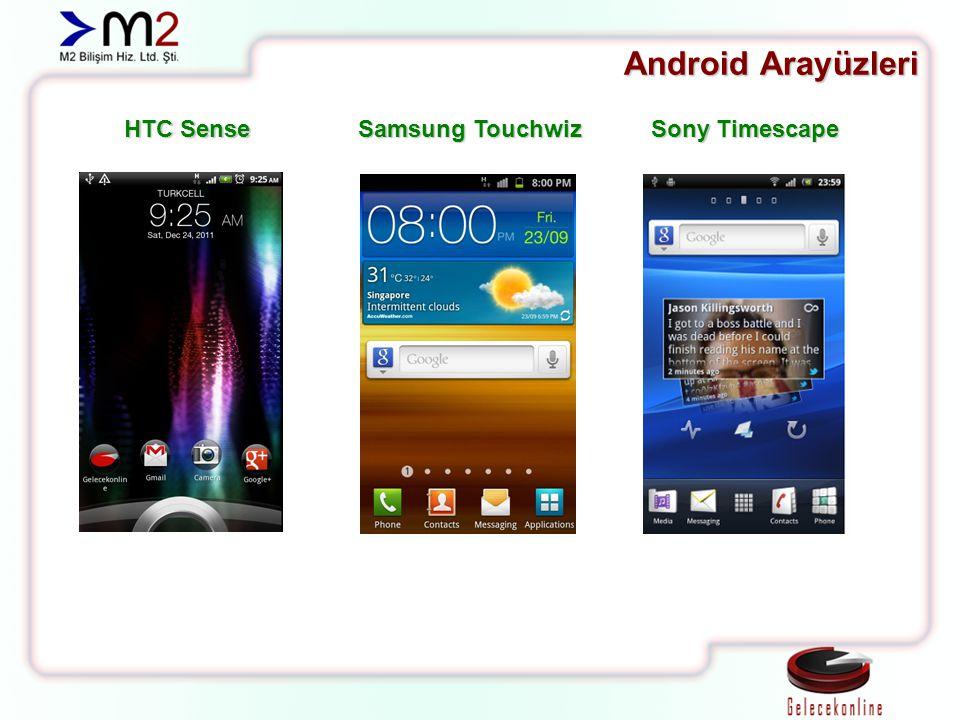 Android Arayüzleri HTC Sense Samsung Touchwiz Sony Timescape