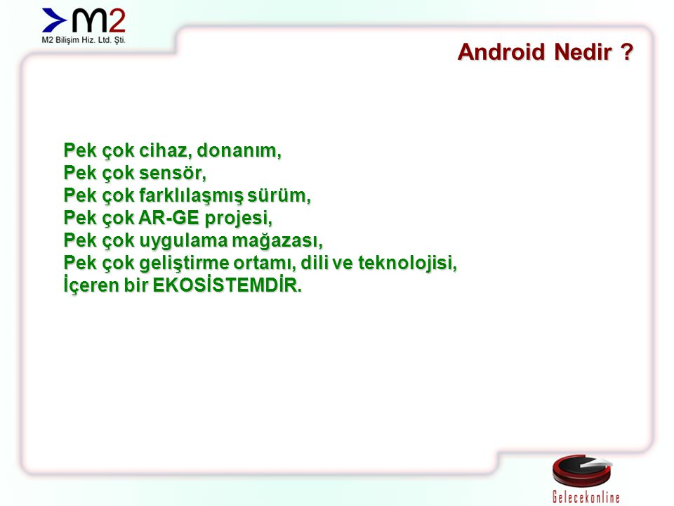 Android SDK İçeriği Virtual Devices Emulator 1.1