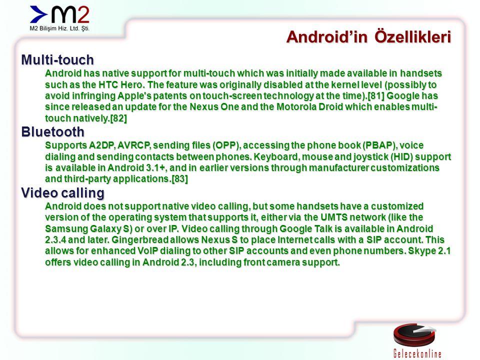 Versiyonlar Android 4.0 Ice Cream Sandwich Android 4.1 Jelly Bean