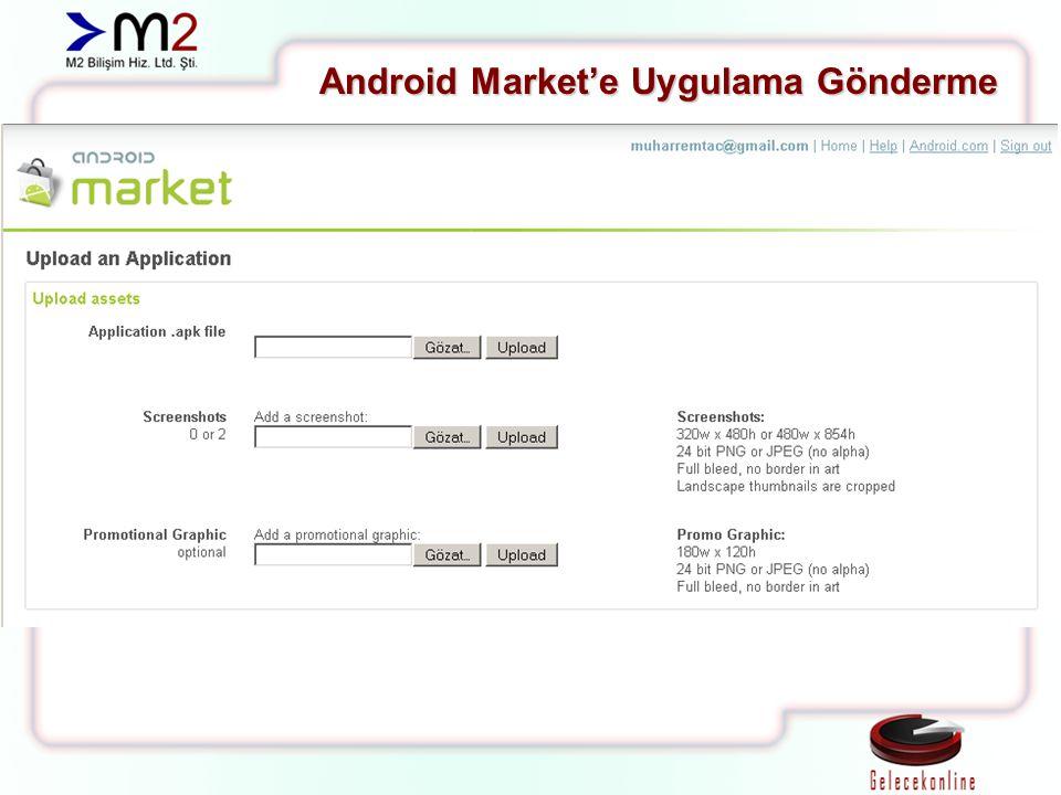 Android Market'e Uygulama Gönderme
