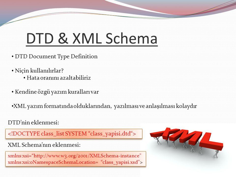 XSLT (Extensible Style Language Transform) XML verilerimize rahat okunabilirlik kazandırır CSS'in eksikliklerini kapatır XSL script kullanımına izin verdiği için pratiktir XSL