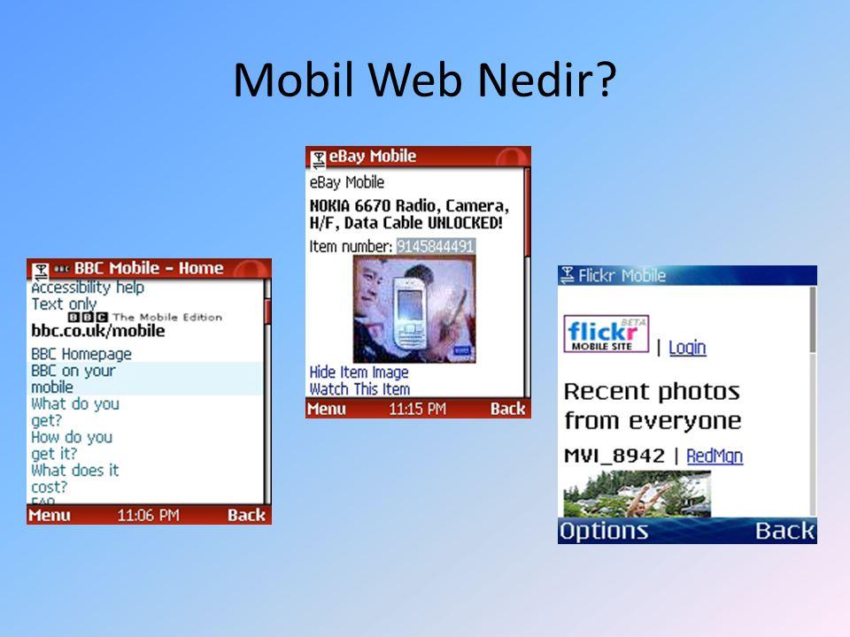 Mobil Web Nedir?