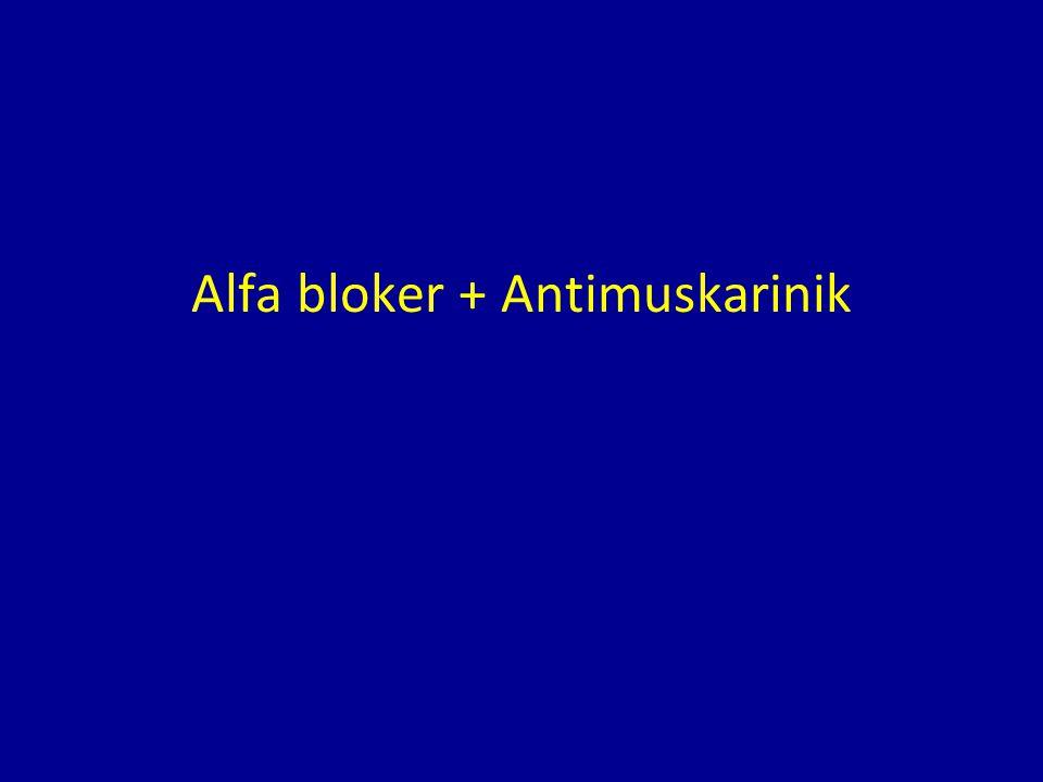 Alfa bloker + Antimuskarinik
