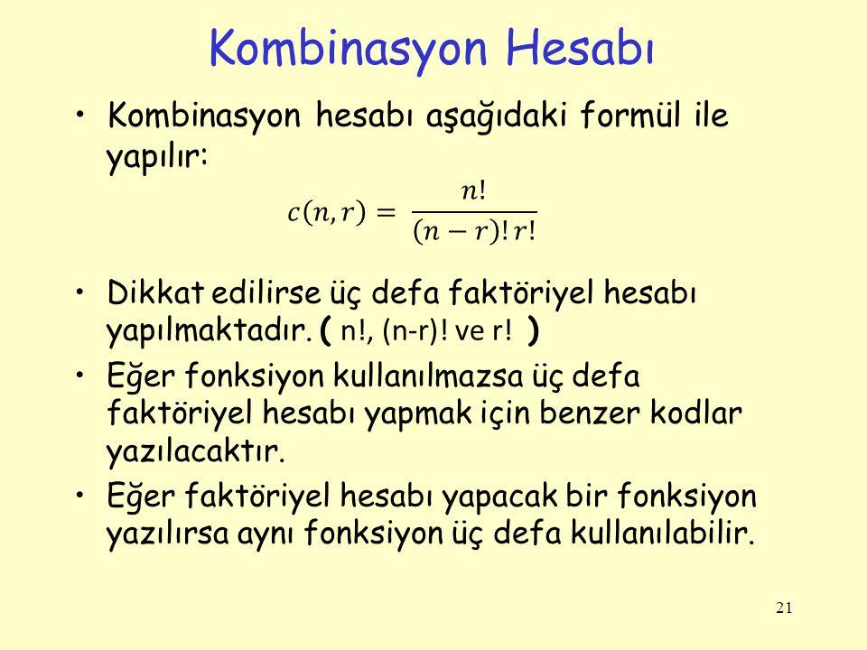 Kombinasyon Hesabı 21