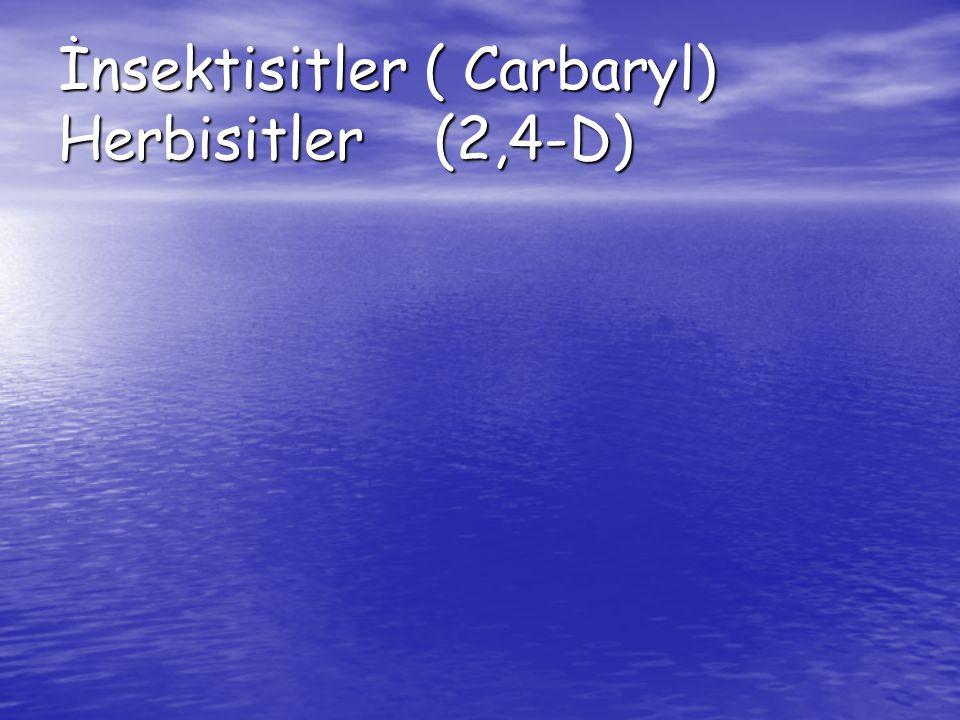İnsektisitler ( Carbaryl) Herbisitler (2,4-D)