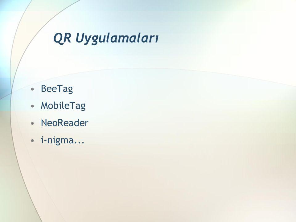 BeeTag MobileTag NeoReader i-nigma... QR Uygulamaları