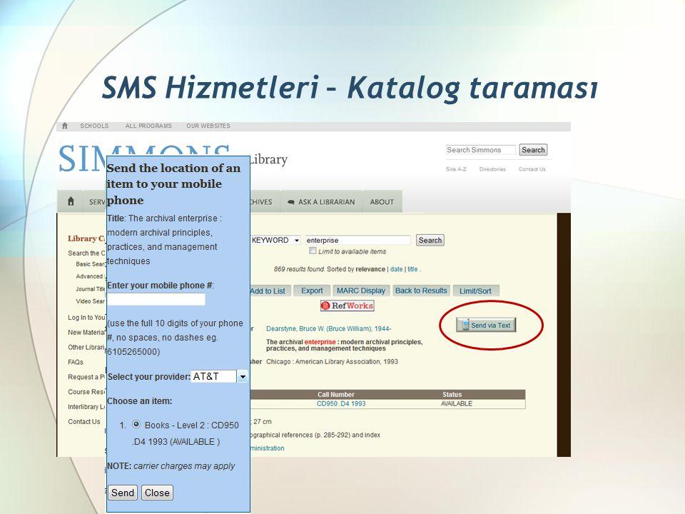 SMS Hizmetleri – Katalog taraması