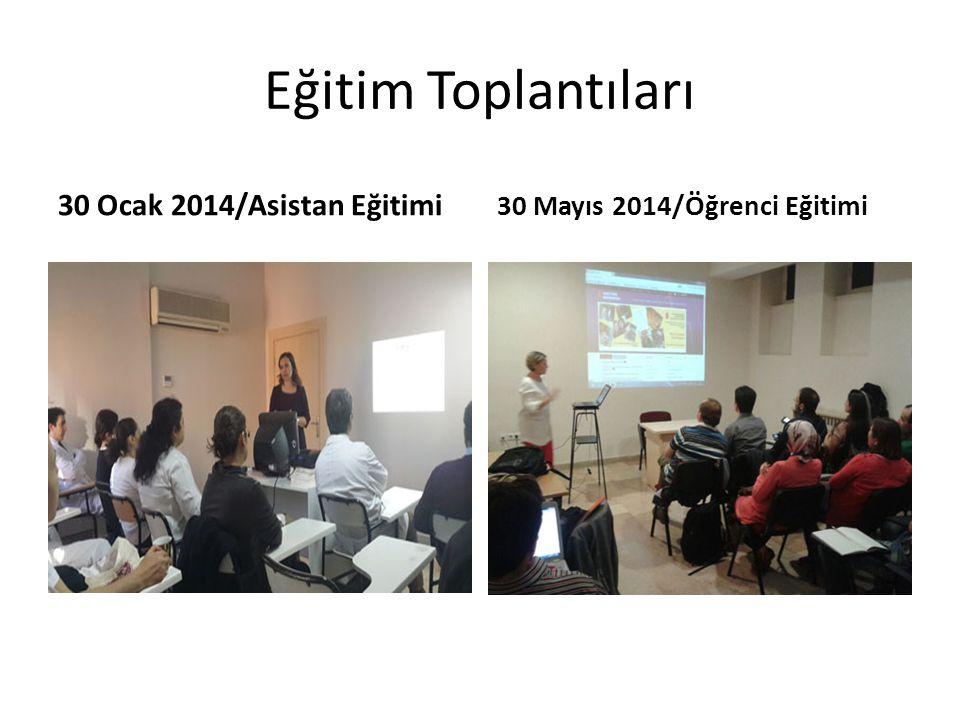 Eğitim Toplantıları 30 Ocak 2014/Asistan Eğitimi 30 Mayıs 2014/Öğrenci Eğitimi