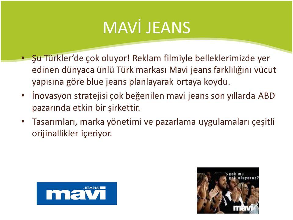 MAVİ JEANS Şu Türkler'de çok oluyor! Reklam filmiyle belleklerimizde yer edinen dünyaca ünlü Türk markası Mavi jeans farklılığını vücut yapısına göre