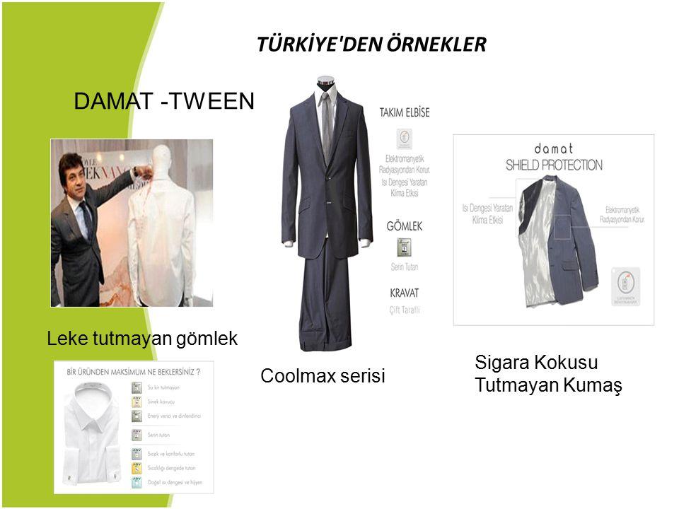 TÜRKİYE'DEN ÖRNEKLER DAMAT -TWEEN Coolmax serisi Leke tutmayan gömlek Sigara Kokusu Tutmayan Kumaş