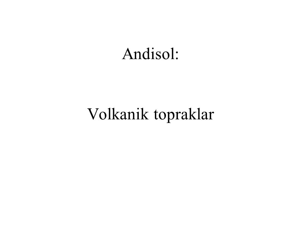 Andisol: Volkanik topraklar