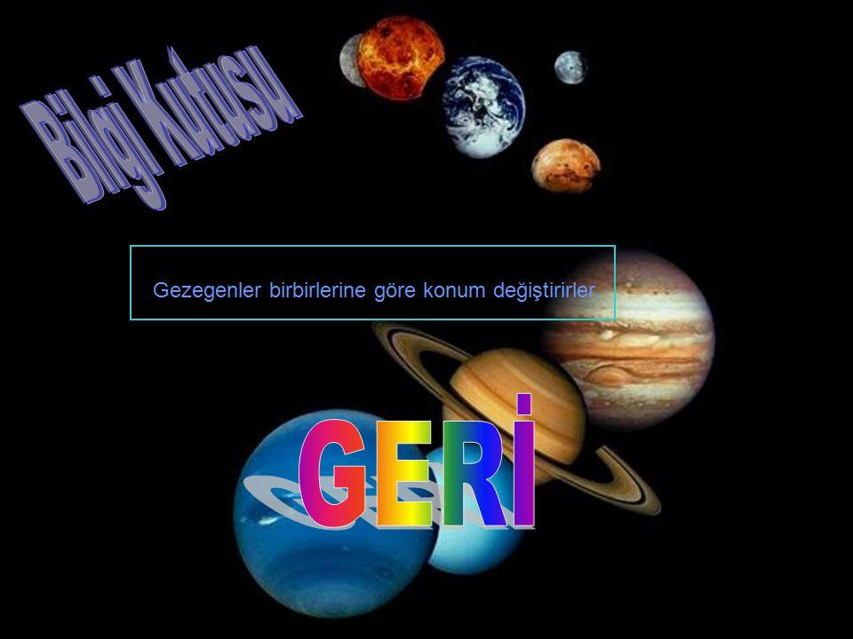 Gezegenler birbirlerine göre konum değiştirirler.