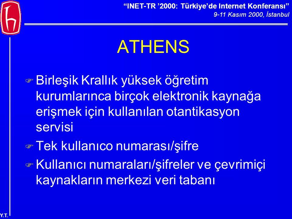 """""""INET-TR '2000: Türkiye'de Internet Konferansı"""" 9-11 Kasım 2000, İstanbul Y.T. ATHENS F Birleşik Krallık yüksek öğretim kurumlarınca birçok elektronik"""