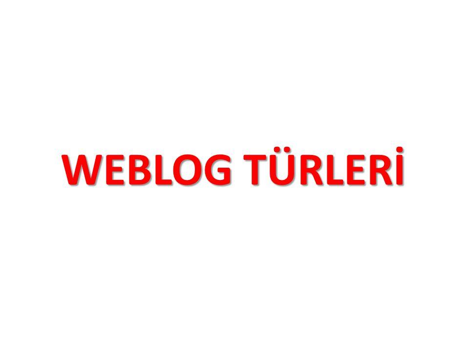 WEBLOG TÜRLERİ