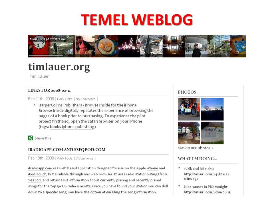 TEMEL WEBLOG
