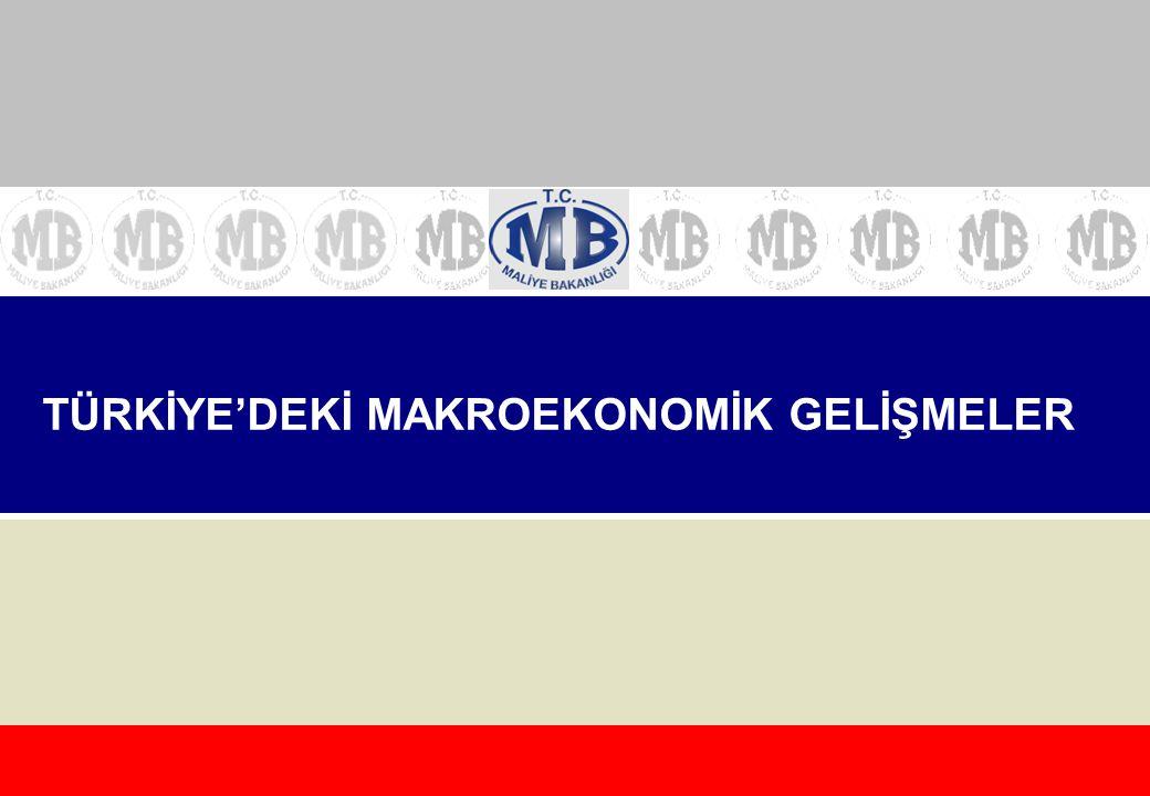 TÜRKİYE'DEKİ MAKROEKONOMİK GELİŞMELER