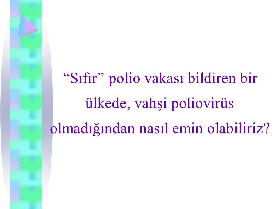 """""""Sıfır"""" polio vakası bildiren bir ülkede, vahşi poliovirüs olmadığından nasıl emin olabiliriz?"""