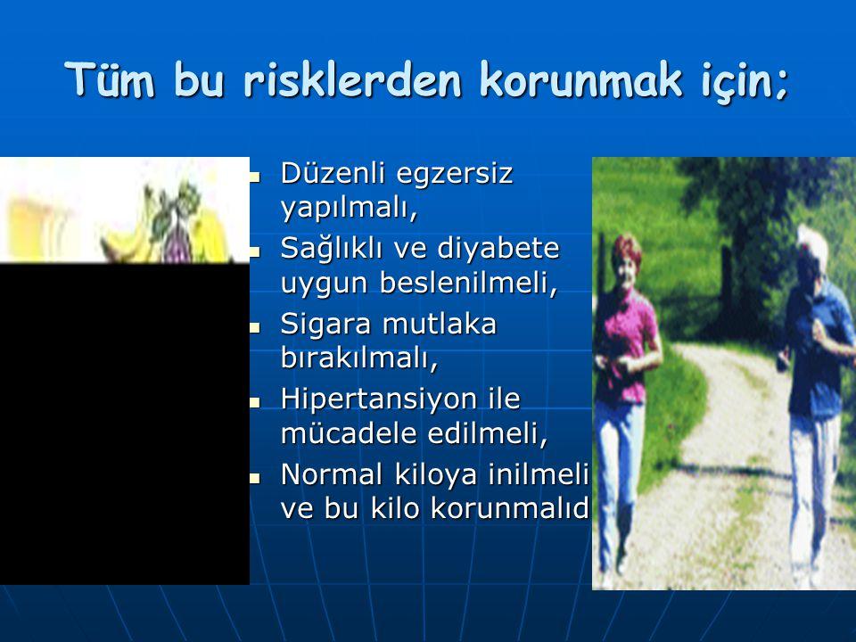 SONUÇ OLARAK; Diyabetin tanı kriterleri: Diyabetin tanı kriterleri: AKŞ > 126 mg/dlAKŞ > 126 mg/dl Rastlantısal KŞ > 200 mg/dlRastlantısal KŞ > 200 mg