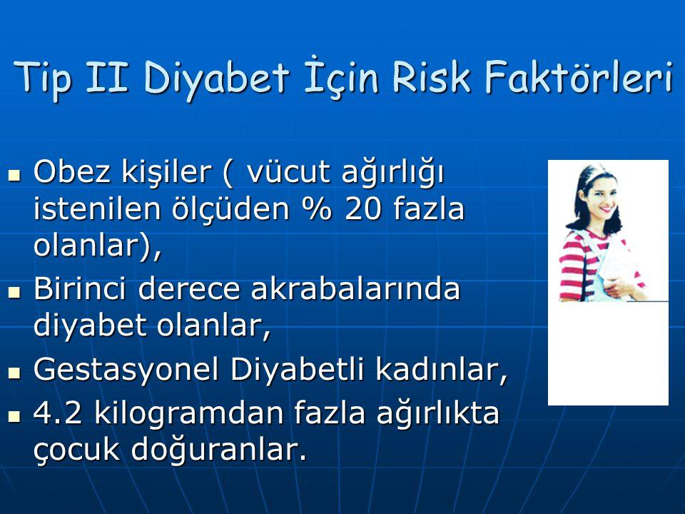 Tip II Diyabetin Belirtileri; Yorgunluk ve kırıklık, görmede bozukluk, Yorgunluk ve kırıklık, görmede bozukluk, Artan açlık, susama ve idrara çıkma, A