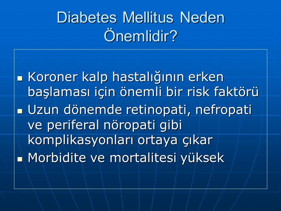 DİABETES MELLİTUS SINIFLAMASI (2) İnsülin fonksiyonunda genetik defektlerİnsülin fonksiyonunda genetik defektler Tip A insülin direnci Tip A insülin d